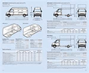 Vauxhall Movano Dimensions Page 8 Of Vauxhall Movano Specifications 2006