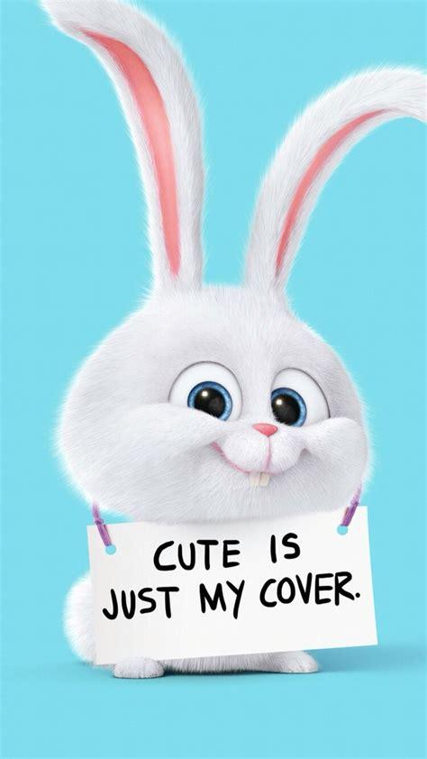 snowball cute bunny secret life  pets iphone wallpaper
