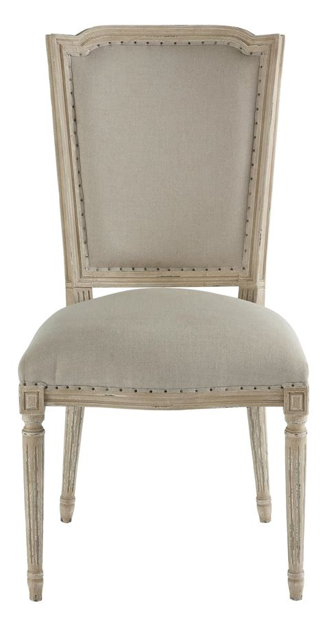 Beige Dining Chairs by Pair Ethan Country Grey Beige Linen Dining Chair