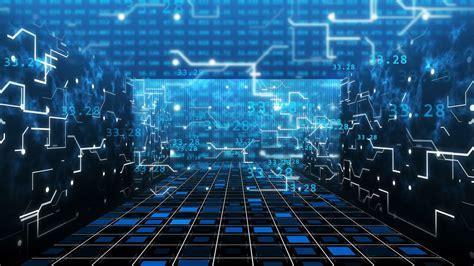 Digital Computer Grid Matrix room Technology with a light