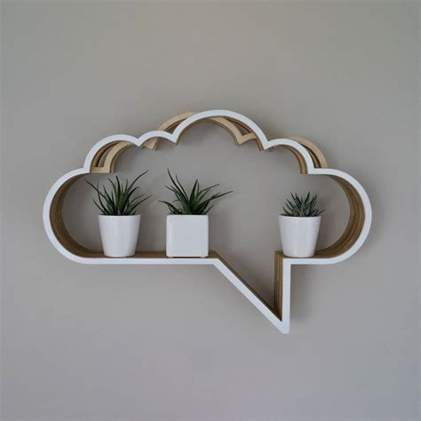 cloud speech shelf unit by youbadcat