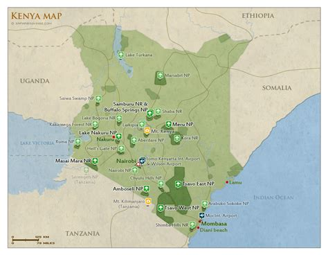 map of kenya how to get to kenya flights airlines visa entry