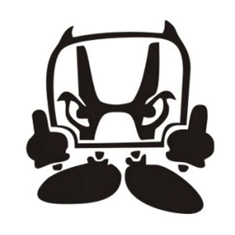 Honda Ok Sticker by Honda Logo Melting Car Bumper Sticker Bumper Sticker