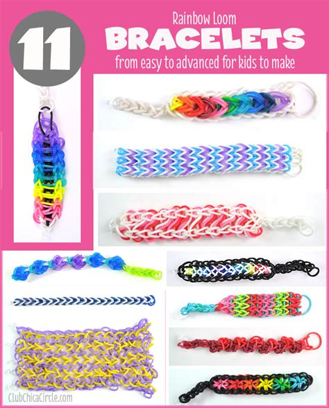 printable bandaloom instructions 11 cool rainbow loom bracelets for kids to make from easy