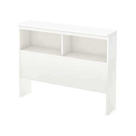 white headboard with shelves south shore libra twin bookcase headboard in pure white