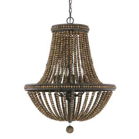 Beaded Wood Chandelier 1000 Images About Home Lighting On Pinterest Wood Bead Chandelier Candle Chandelier And