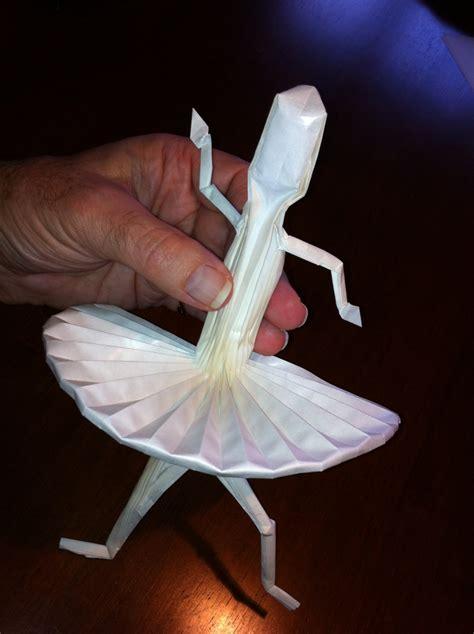 Origami Ballet Dancer - 441 ballerina kit setting the crease