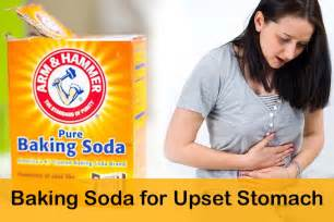 how to use baking soda for upset stomach
