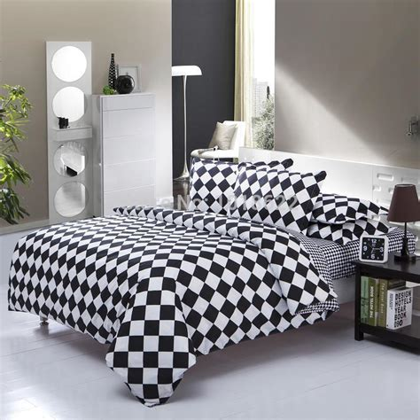 Black And White Quilt Cover Sets by Home Textile European Style Black And White 4pcsbedding