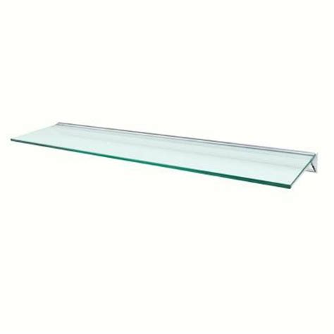 wallscapes glacier opaque glass shelf with silver bracket