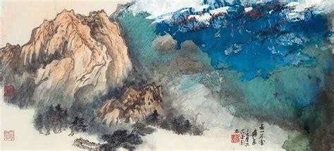 znag painting zhang daqian 1899 1983 snow upon mountains