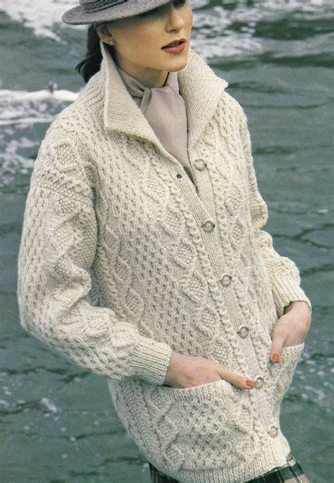 knitting pattern aran cardigan vintage knitting pattern instructions to make a ladies
