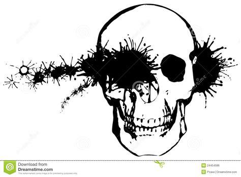 Bullet Through A Human Skull Royalty Free Stock Image Skull With Bullet