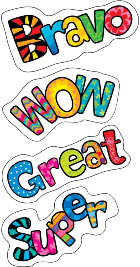 Positive Words Poppin Patterns Stickers By Creative