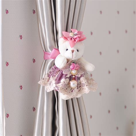 curtain clip backs purple single bear clip curtain tie backs