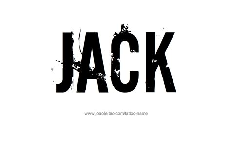 jack tattoo name designs