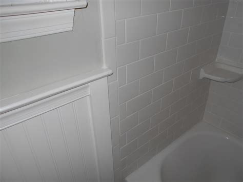 subway tile wainscoting bathroom wainscoting with subway tile