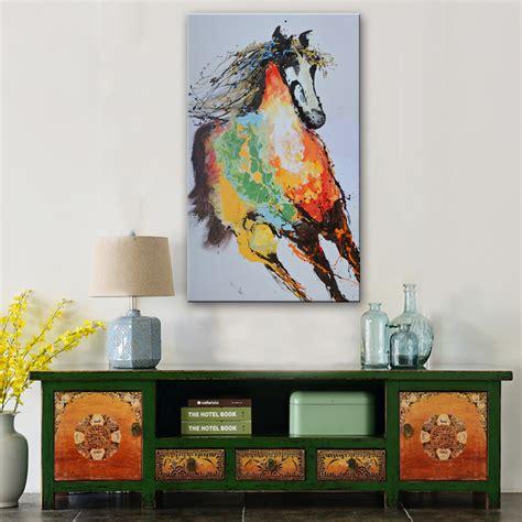 Painting Embroidery Lukisan Dinding Home Decor Dekorasi Ruang berderap kuda lukisan promotion shop for promotional berderap kuda lukisan on aliexpress