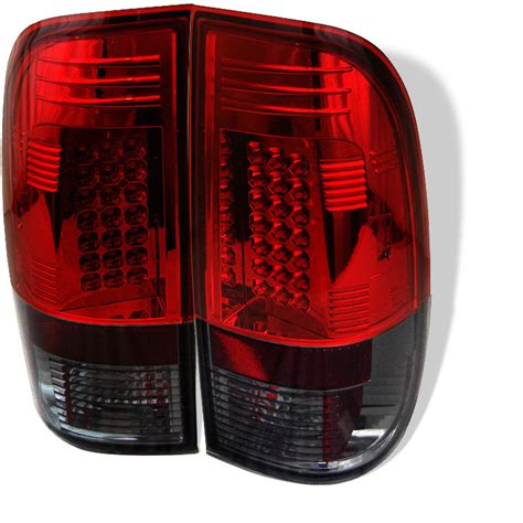 1999 ford f150 tail 1999 2007 f250 f350 spyder led tail lights smoke red