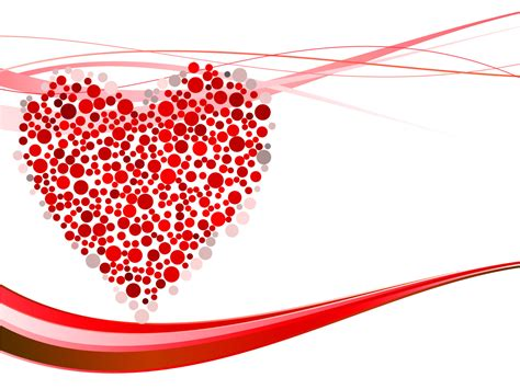heart design for powerpoint hearts dots for powerpoint ppt backgrounds love red