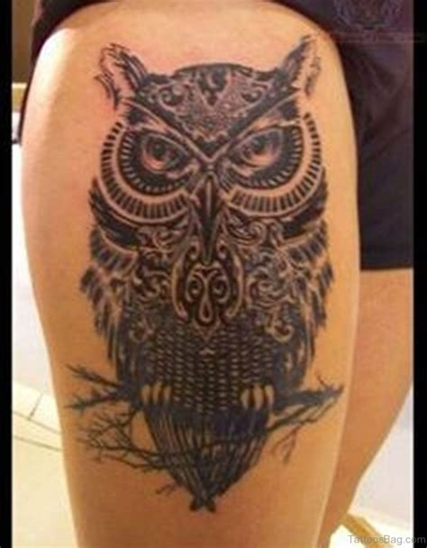 owl tattoo thigh 50 wonderful owl tattoos on thigh