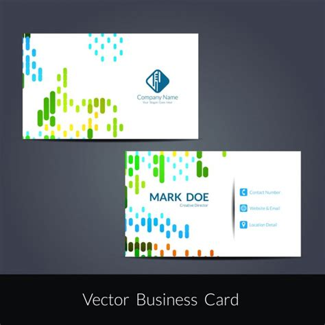 abstract business cards templates free colorful abstract business card template vector free