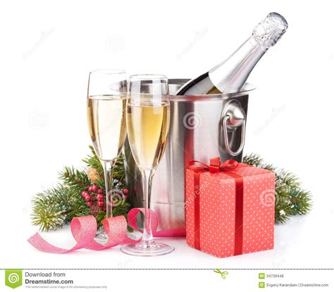 Buket Boxs chagne bottle in glasses and gift box