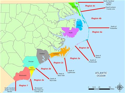 coastal carolina map nc deq and inlet management plan