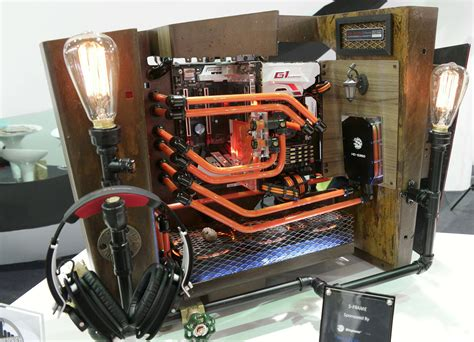 Nice Computer Desk here s all the insane pc case mods from computex kotaku