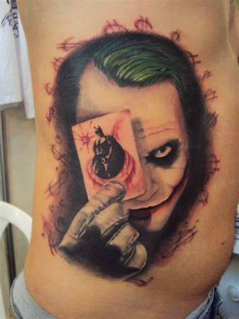 batman tattoo ribs 38 batman joker tattoos