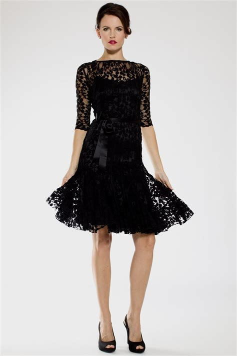 Lace Sleeve Cocktail Dress black lace cocktail dress with sleeves eligent prom