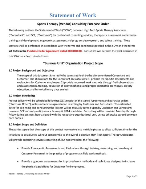 consulting sow template work sle po agreement 11 15 2013