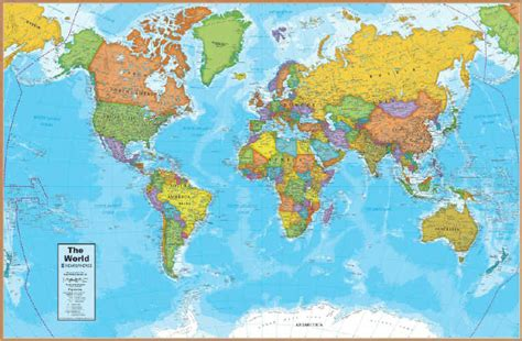 World Map Desk Pad by The Savvy Traveller World Map Desk Pad
