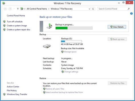 windows image backup how to create a windows system image in windows 7 and