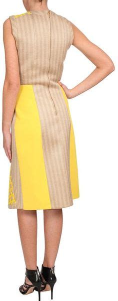 Pedro Embroidered pedro lourenco wool embroidered pencil dress in yellow lyst