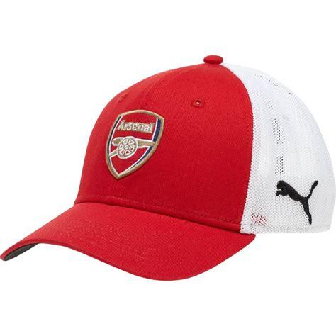 arsenal hat puma arsenal mesh stretch fitted hat ebay