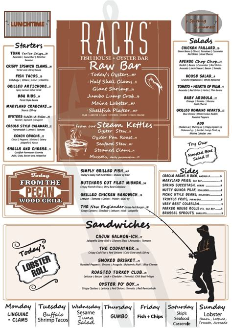 Racks Restaurant Menu Prices Philippines by Menu For Racks Downtown Eatery Tavern 402 Plaza Real