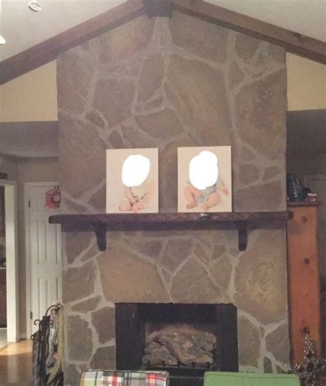 Painted Flagstone Fireplace by Paint Flagstone Fireplace