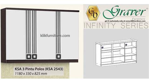 Rak Dapur Atas 2 Pintu Kaca Graver Infinity Ksa 2562 harga ksa 2543 pintu 3 atas graver infinity sale