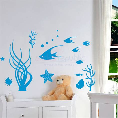 Animal Wall Stickers under the sea ocean wall sticker
