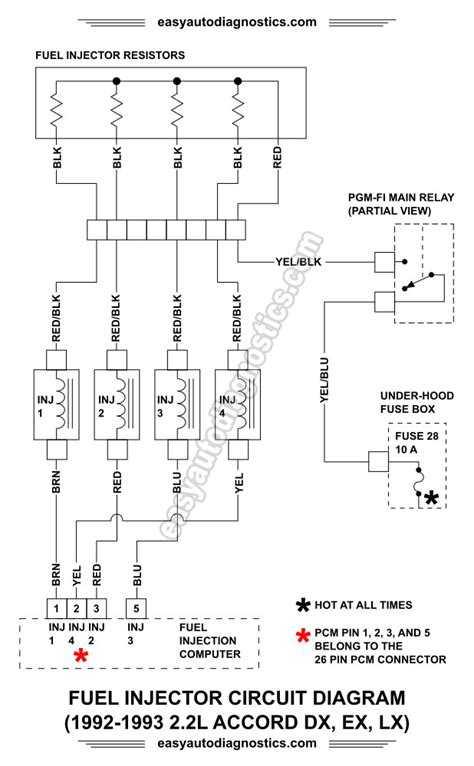stereo wiring diagram honda accord 1992 28 images part