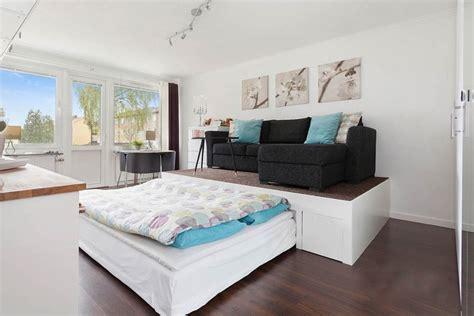 bett unter podest podestbett bauen praktische l 246 sung f 252 rs moderne schlafzimmer