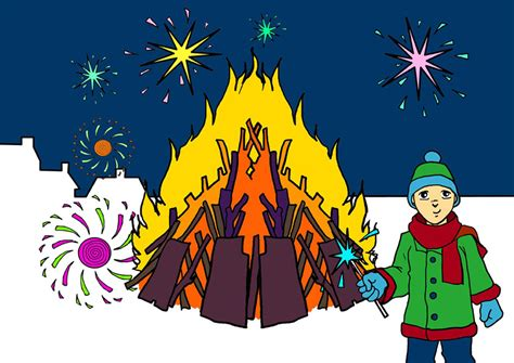 fawkes clipart celebration clipart bonfire pencil and in color