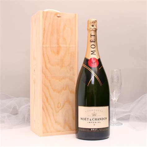 personalised rose moet and chandon grand vintage magnum of