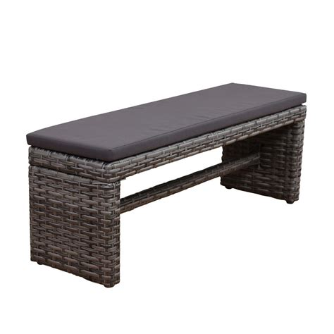 wicker bench cushions atlantic contemporary lifestyle atlantic mustang 2 seater