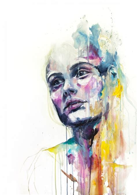 painting for hello watercolor paintings by agnes cecile say hello