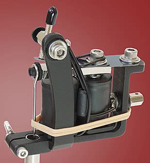 tattoo machine for left hand old style flat black lightweight machine head w old style