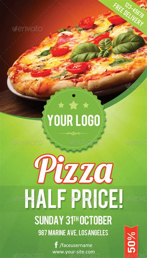 20 Delicious Looking Restaurant Flyer Templates Pizza Flyer Template