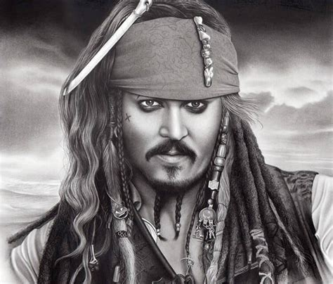 johny depp as jack sparrow drawing by charles laveso no