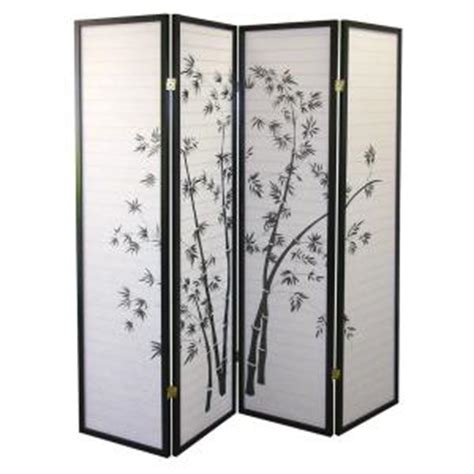home depot room divider home decorators collection 5 83 ft black 4 panel room divider r591 4 the home depot